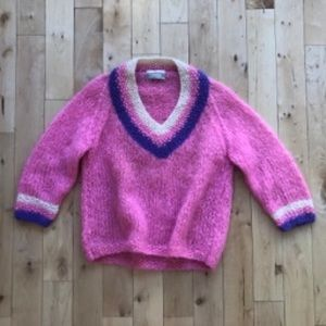 Vintage Pink Mohair Sweater